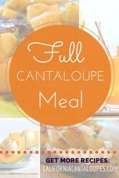 Full Cantaloupe Meal   California Cantaloupes