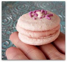 """One of my most pinned recipes is my Chocolate & Amaretto Macarons recipe.  Yes, it's completely vegan and tastes pretty amazing. Follow M&M on  Pinterest for a continuous stream of vegan yumminess ;-)  I wanted to make a second vegan macaron recipe to flex my """"aquafaba""""  mus"""