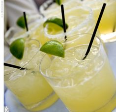 yellow drink ideas - margaritas!