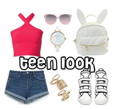 """""""teen look"""" by palitohop ❤ liked on Polyvore featuring cutekawaii, T By Alexander Wang, Zara, Raf Simons and Topshop"""