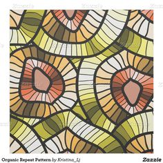 Shop Modernistic Abstract Organic Repeat Pattern Fabric created by Kristina_Lj. Pattern Fabric, Repeating Patterns, Organic, Abstract, Create, Nature, House, Painting, Ideas
