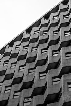 Textural patterns in architecture with graphic lines & repetition