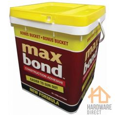 Max Bond™ Construction Adhesive is a synthetic, rubber based adhesive for installation of flooring and wall panels or for bonding common construction materials such as metal, timber and concrete. Concrete Tools, Tools Hardware, Safety First, Synthetic Rubber, Construction Materials, Interior And Exterior, Adhesive, Have Fun, Bond