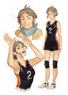 Tags: Mole, Alternate Hairstyle, Viktoria Ridzel, Haikyuu!!, Sugawara Koushi, Volleyball Uniform
