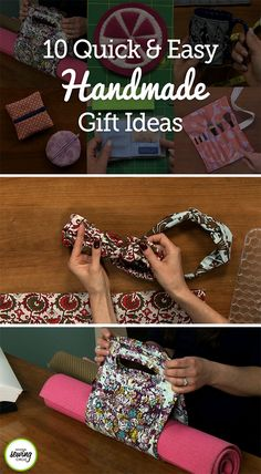 One challenge of the holidays is finding the perfect gift for everyone on your list. This year, make your gift-giving an excuse to spend more time sewing! Handmade gifts are not only a great way to share your talents, but are also a unique surprise from the heart. With the help of some of our handmade gift idea tutorials, your leftover fabric scraps can be made into gorgeous and useful gifts this holiday season.