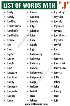 Essay Writing Skills, English Writing Skills, Book Writing Tips, Writing Words, Good Grammar, English Vocabulary Words, Learn English Words, J Words, Words To Use