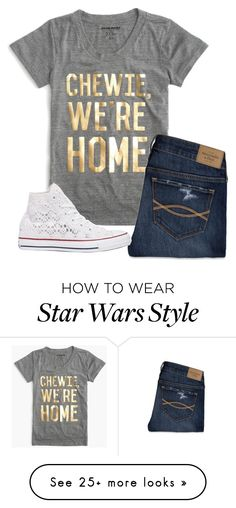 """Just saw Star Wars The Force Awakens"" by laxsoccerlover36 on Polyvore featuring J.Crew, Abercrombie & Fitch and Converse"