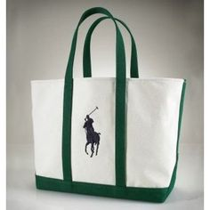 41f57a36e6 Ralph Lauren Big Pony Canvas Handbag Green$43.57 > #chanelchancegreenprice  Jolies Sacs À Main,