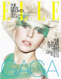 Photographed by Matt Irwin, Lady Gaga secures two more January 2012 covers that are destined to sit alongside her Vanity Fair cover on newsstands. Vintage Magazine, Cool Magazine, Elle Magazine, Magazine Spreads, Magazine Art, Magazine Design, Lady Gaga Ring, Magazin Covers, Fashion Magazine Cover