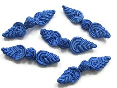 2 Chinese Knot Beads Imperial Blue by ThirdEarDear on Etsy, $1.50