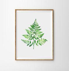 Modern Decor, wall art home decor, Fresh wall decor summers, green palm poster, Contemporary style Art, woodland art, tree art Nature watercolor art