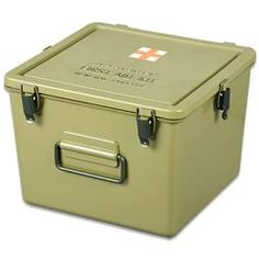 Start your emergency medical kit with a military surplus medical kit container. There are tons of uses for this waterproof box.