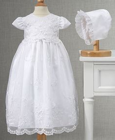 Lauren Madison Baby Girls Gown, Baby Girls Embroidered Christening Gown
