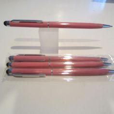 Set-of-4-TERZETTI-Model-Cross-PLUS-PINK-Slim-Ballpoint-Pen-Conductive-Tip