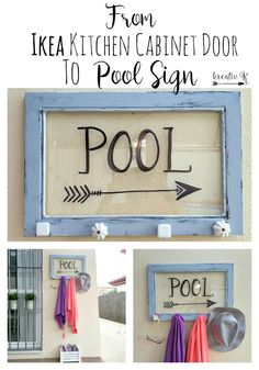How to turn an Ikea kitchen cabinet glass door into a pool sign kreativk.net