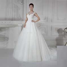 Find More Wedding Dresses Information about 2016 New Design Ivory Pearls Vintage Lace Wedding Dress A Line Bridal Gown Tulle Brush Train Hochzeitskleid Vestido branco,High Quality lace dresses for mother of bride,China lace mermaid wedding dress Suppliers, Cheap lace leopard dress from Uncle House Dress Store on Aliexpress.com