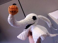 Zero the Ghost Dog - Free Crochet Pattern by Yarny Doom.