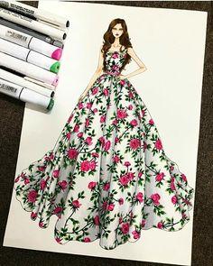 Dress Design Drawing, Dress Design Sketches, Fashion Design Sketchbook, Dress Drawing, Fashion Design Drawings, Fashion Illustration Tutorial, Dress Illustration, Fashion Illustration Dresses, Fashion Model Sketch