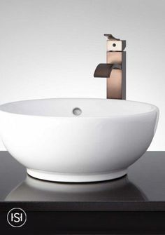 The Eastmoor Round Vessel Sink has a shape that adds a touch of sophistication to your bathroom. This basin comes with an overflow to prevent water from spilling onto your counter. It's a perfect addition to a modern bathroom. White Vessel Sink, Rectangular Vessel Sink, Vessel Sink Vanity, Glass Vessel Sinks, Lake House Bathroom, Bathroom Wall Decor, Modern Bathroom, Bathroom Sinks, Bathroom Ideas