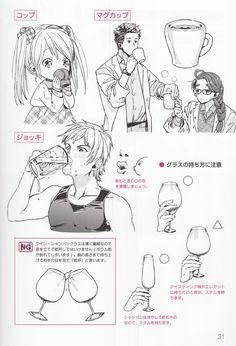 Drinking Manga Drawing Tutorials, Manga Tutorial, Art Tutorials, Hand Drawing Reference, Art Reference Poses, Drawing Skills, Drawing Tips, Character Drawing, Character Design