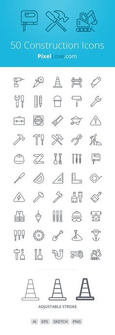 Free Download : 50 Construction icons for iOS 8 tab bars & toolbars