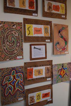 Aboriginal art by paintedpaper, Australia dot paintings animals multi-cultural Art Rupestre, 2nd Grade Art, Ecole Art, Art Africain, Art Curriculum, School Art Projects, Middle School Art, Art Lessons Elementary, Arte Popular