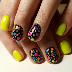 In this photo you see the natural pretty manicure. Its colors make it possible to combine such manicure with any . Stylish Nails, Trendy Nails, Cute Nails, Nail Art Design Gallery, Best Nail Art Designs, Romantic Nails, Nail Art For Beginners, Short Nails Art, Polka Dot Nails