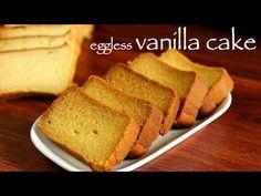 vanilla cake recipe, butter cake, eggless vanilla cake / plain cake with step by step photo/video. simple no fancy sponge fluffy & moist eggless cake recipe Milk Powder Gulab Jamun Recipe, Milk Powder Recipe, Sweet Desserts, Easy Desserts, Eggless Desserts, Eggless Vanilla Cake Recipe, Eggless Baking, Cooker Cake, Plain Cake