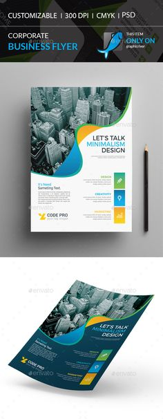 Corporate Flyer by I-Getup Annual Report Covers, Cover Report, Psd Flyer Templates, Business Flyer Templates, Corporate Flyer, Corporate Business, Leaflet Design, Minimal Design, Leaflets
