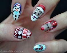 Christmas Themed Nails nails nail art christmas nail ideas nail designs christmas nails nail pictures christmas nail art