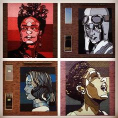 portraits on brick walls by David Flores (LP)