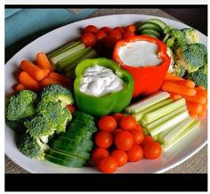 Veggie tray - use peppers for dip