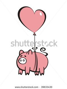 free flying pig clipart | Flying Pig Outline | Pigs | Pinterest ...