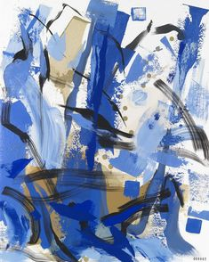 Sef Berkers. Abstract Landscapes. Abstract Blue VI. 90 x 70 cm / 35,5 x 27,5 in. oil on paper, $ 995.00 Abstract Words, Abstract Landscape, Landscapes, Oil, Paper, Artwork, Blue, Paisajes, Scenery