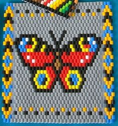 An original butterfly pattern that can be made into a small jewelry piece or a large table coaster, depending on the size of beads. It is as simple and minimalistic as it gets, while still being relatively realistic and true to nature. I have studied a lot of photos to come up with the positioning and colors of spots on the wings. I love this butterfly, and being a European species it reminds me of my home. Butterflies are beautiful summer creatures that symbolize youth, soul and rebirth…