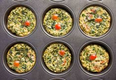 Savory Quinoa Egg Muffins With Spinach Recipe