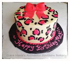 Leopard Print Cake!