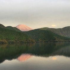 Mount Fuji Sunrise Over Lake Ashi