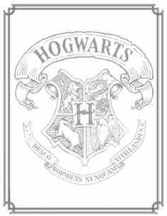 Harry Potter Coloring Page!!