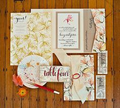 floral paper goods