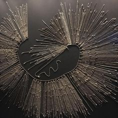 #inspirational #museumhopping #Santiago #precolumbian #museum  From the museum's label: The Inca used quipas or knotted cords to keep their accounts. Data was stored by quantity, type and position of knots on primary and secondary cords strung together.