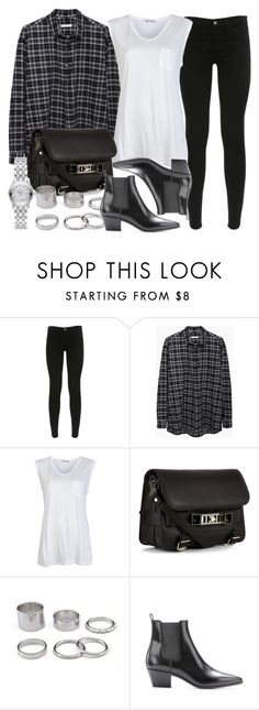 """""""Style #4598"""" by vany-alvarado ❤ liked on Polyvore featuring J Brand, 6397, T By Alexander Wang, Proenza Schouler, Yves Saint Laurent and Gucci"""