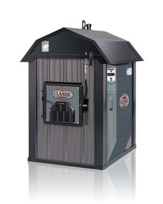 A wood burning outdoor furnace... 90% efficient!