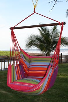 Bloomsbury Market Barfield Hammock Chair Color: Going Coastal Hanging Chair With Stand, Hanging Hammock Chair, Hammock Stand, Swinging Chair, Backyard Hammock, Outdoor Hammock, Hammocks, Free Standing Hammock, Double Hammock With Stand