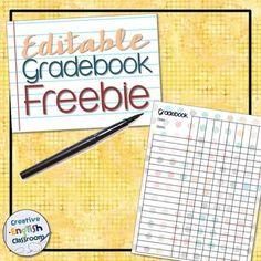 printable grade book teacher mode pinterest freebies printable