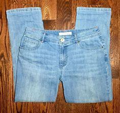 Women's CHICO'S Platinum Denim Ultimate Fit Light Wash Crop Jeans Size 0.5 (6) #Chicos #CapriCropped