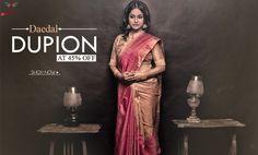 The Enchantress drape! #DupionSilkSarees Launched at 45% OFF!