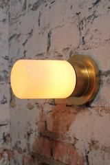 Bunker tube light modern-luxe or Hollywood regency charm made of metal and finished in a gold paint finish c8f549df-155d-4476-a4af-fc5f9f16152b