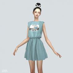 Ss Sleeveless Dress at Marigold • Sims 4 Updates