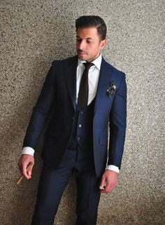 2016 High Quality Cheap Groom Tuxedos Fashion Slim Fit Navy Blue Wedding Prom Suit For Men Jacket+Pants+Vest+Tie Custom Tuxedos For Kids Tuxedos For Weddings From Dress_home, $99.23| Dhgate.Com